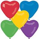 Baloane latex in forma de inima, Diametru 16 cm, Asortate, Gemar CR6.ASS, set 100 buc