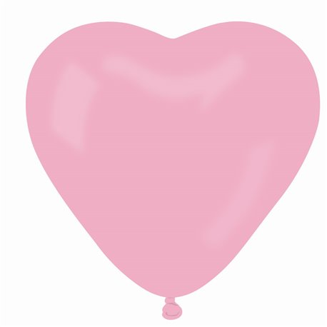 Latex Rose 06 Heart Balloons, 10 inch (25 cm), Gemar CR.06, Pack Of 100 pieces