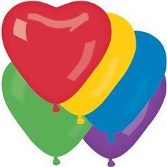 Baloane latex in forma de inima, Diametru 25 cm, Asortate, Gemar CR.ASS