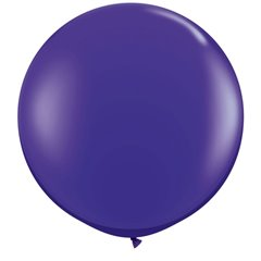 Baloane latex Jumbo 3 ft Quartz Purple, Qualatex 42875, 1 buc