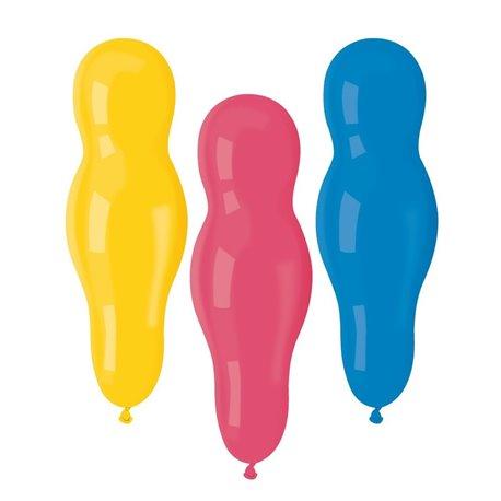 Baloane figurine latex mici - Papusi, 35 cm, Asortate, Gemar AB3, set 100 buc