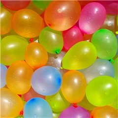 Assorted Water Bombs Latex Balloons , 3 inch (8 cm), Gemar PT20, Pack Of 100 pieces