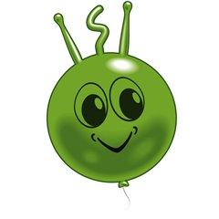 "Balon figurina latex mica ""Marsi"", Verde, Amscan 48215, 1 buc"