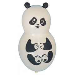 White Panda Figure Latex Balloons, 16 inch (40 cm), Amscan 450030, Pack Of 4 pieces