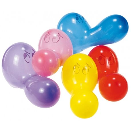"""Assorted Noses Figure Latex Balloons 24"""" (60 cm), Asortate, Amscan RM6484, Pack of 5 pieces"""