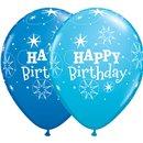 "Baloane latex 11"" inscriptionate Birthday Sparkle Asortate, Qualatex 38858, set 25 buc"