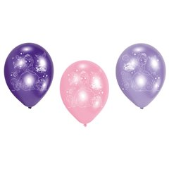 "8"" Printed Latex Balloons, Sofia the First Assorted, Amscan 450311, Pack of 6 Pieces"