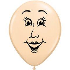 "Baloane latex 5"" inscriptionate Woman's Face Blush, Qualatex 99310"