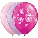 "11"" Printed Latex Balloons, Fairies & Butterflies Asortate, Qualatex 21573, Pack of 25 Pieces"