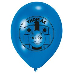 "Baloane latex 8"" inscriptionate Thomas & Friends Blue, Amscan 450271, set 6 buc"