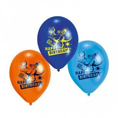 "8"" Printed Latex Balloons, Toy Story Happy Birthday Assorted, Amscan 450230, Pack of 6 pieces"