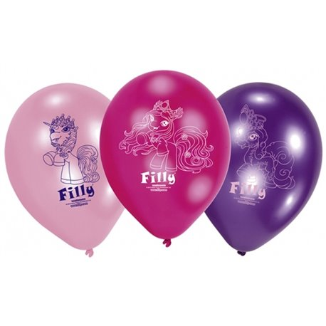 "8"" Printed Latex Balloons, Filly Fairy Assorted, Amscan 450303, Pack of 6 pieces"