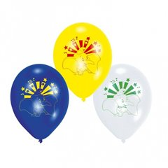 """8"""" Printed Latex Balloons, Dumbo Disney Assorted, Amscan 450253, Pack of 6 pieces"""