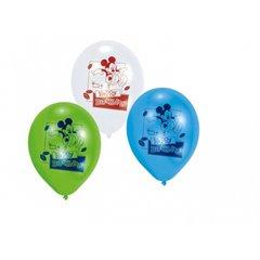 "Baloane latex 8"" inscriptionate Mickey Mouse Happy Birthday Asortate, Amscan 450233, set 6 buc"