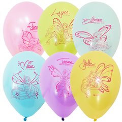 "12"" Printed Latex Balloons, Winx Club Assorted, Gemar 301694, Pack of 6 Pieces"
