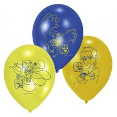 "8"" Printed Latex Balloons, Ben 10 Assorted, Amscan 450177, Pack of 6 pieces"