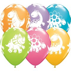 "Baloane latex 11"" inscriptionate Cute & Cuddly Dinosaurs Asortate, Qualatex 36985"