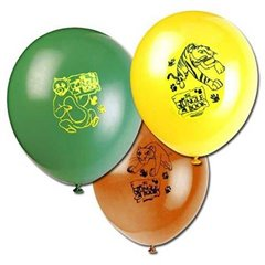 "8"" Printed Latex Balloons, Jungle Book Assorted, Amscan 450215, Pack of 6 pieces"