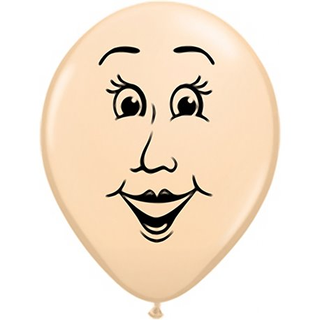 "16"" Printed Latex Balloons Woman's face Blush, Qualatex 99311, Pack of 50 Pieces"