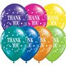 "Baloane latex 11"" inscriptionate, Thank You Confetti Asortate, Qualatex 31699, set 25 buc"