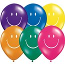 "5"" Printed Latex Balloons, Smile Face Asortate, Qualatex 92166, Pack of 100 Pieces"