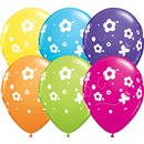"11"" Printed Latex Balloons, Daisies & Butterflies Asortate, Qualatex 85065, Pack of 50 Pieces"