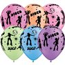 """11"""" Printed Latex Balloons, Disco Neon Asortate, Qualatex 21575, Pack of 25 Pieces"""