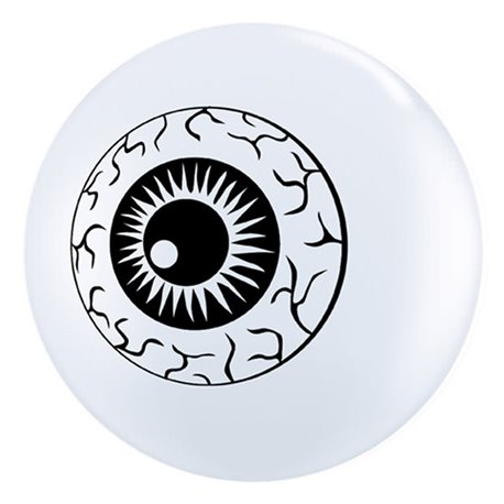 "Baloane latex 5"" inscriptionate Eyeball TopPrint White, Qualatex 84895, set 100 buc"