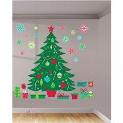 Whimsical Christmas Wall Art Decorating Kit, Amscan 670202