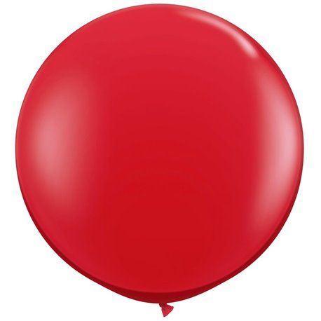 Red Jumbo Latex Balloon, 39 inch (100 cm), Amscan 991392, 1 piece