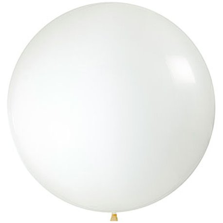 "Balon latex Jumbo 39"" (1 m) Transparent, Amscan 991423,1 buc"