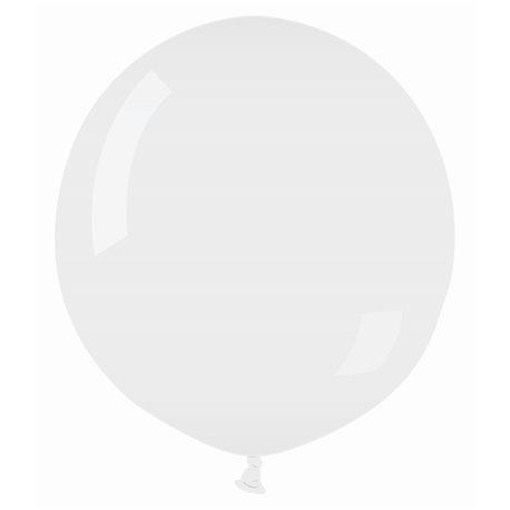 Balon Latex Jumbo 48 cm, Transparent 00, Gemar G150.00, Set 50 buc