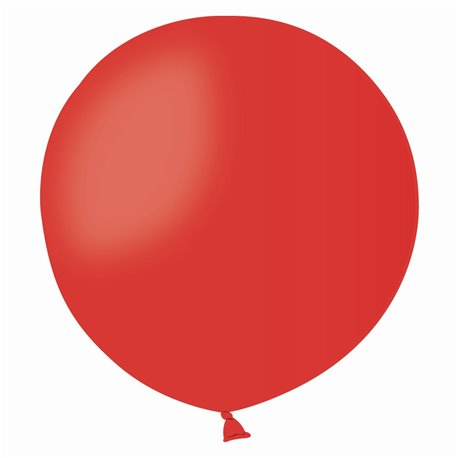 Red 45 Jumbo Latex Balloon, 19 inch (48cm), Gemar G150.45, Pack Of 50 pieces