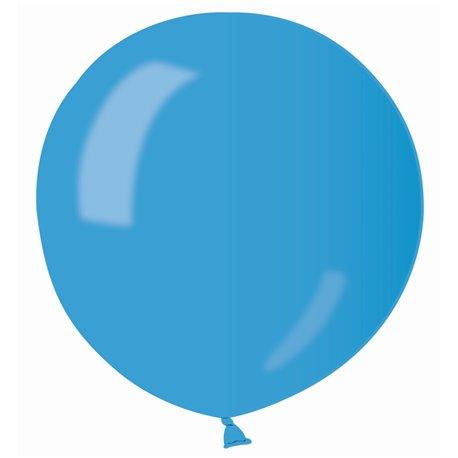 Balon Latex Jumbo 80 cm, Albastru 36 Sidefat, Gemar GM220.36, set 25 buc