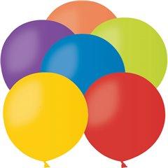 Assorted Jumbo Latex Balloons - 61cm, Gemar G220.ASS