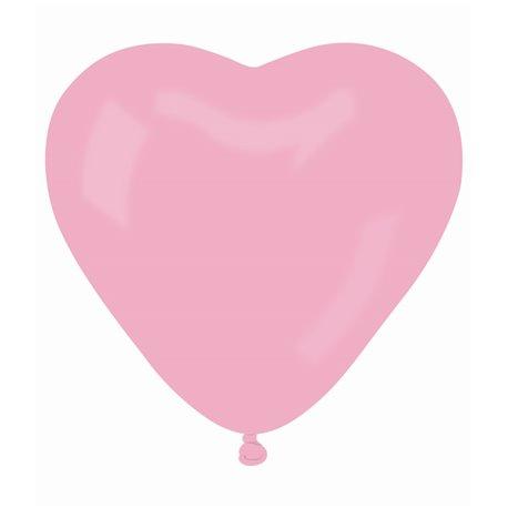 Balon Jumbo latex in forma de inima, Diametru 54 cm, Rose 06, Gemar CR2.06, 1 buc