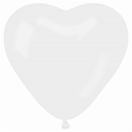 Balon Jumbo latex in forma de inima, Diametru 54 cm, Alb 01, Gemar CR2.01, 1 buc