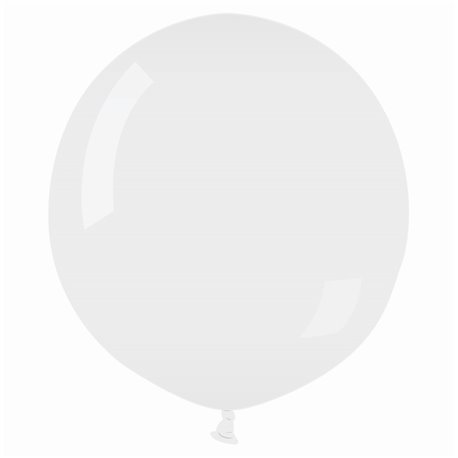 White 01 Jumbo Latex Balloon, 30 inch (75 cm), Gemar G200.01, 1 piece