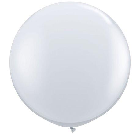 3' Jumbo Latex Balloons, Diamond Clear, Qualatex 43392, Pack of 2 pieces