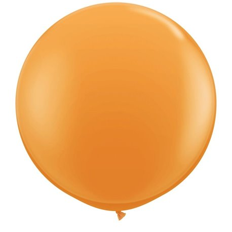3' Jumbo Latex Balloons, Orange, Qualatex 42736, Pack of 2 pieces