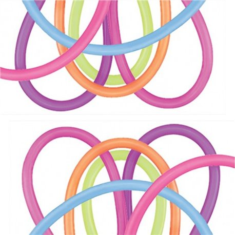 """Modeling Latex Balloons, Neon Assortment, 2"""" x 60"""", Qualatex 260Q 73308, Pack Of 100 pieces"""