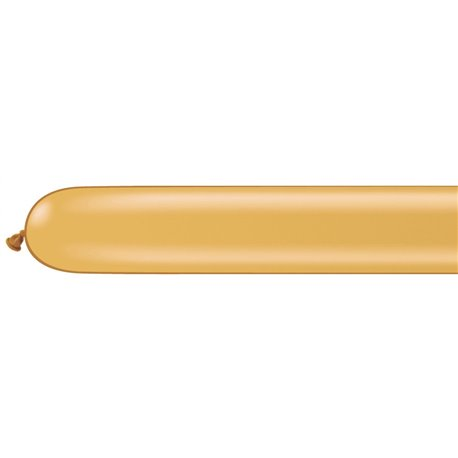 """Modeling Latex Balloons, Gold, 3"""" x 50"""", Qualatex 350Q 82676, Pack Of 100 pieces"""