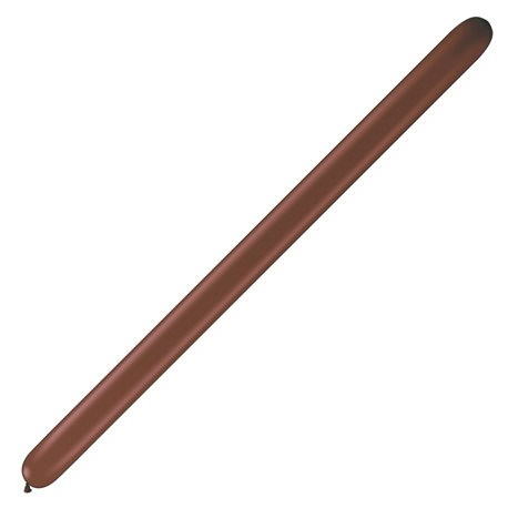 "Baloane Latex Modelaj Chocolate Brown, 3"" x 50"", Qualatex 350Q 82682, set 100 buc"