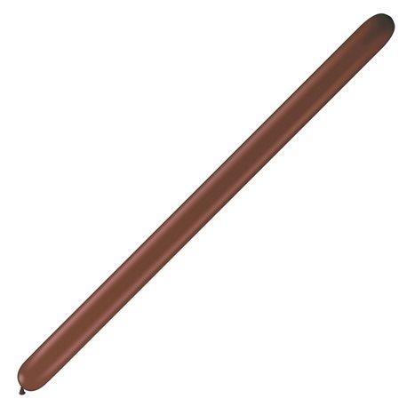 "Baloane Latex Modelaj Chocolate Brown, 6"" x 46"", Qualatex 646Q 82674, set 50 buc"