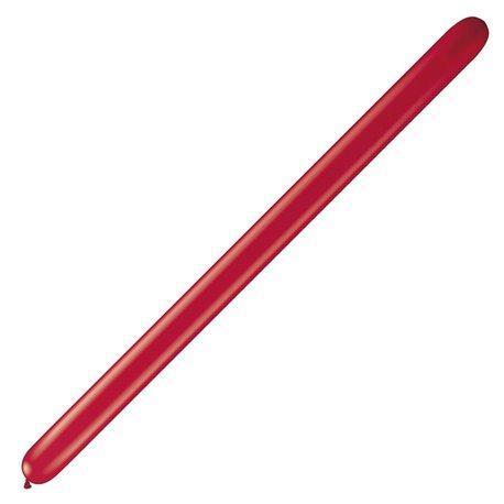 """Baloane Latex Modelaj Ruby Red, 2"""" x 60"""", Qualatex 260Q 43958, set 100 buc"""