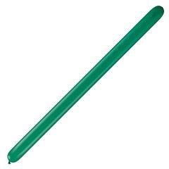 "Baloane Latex Modelaj Emerald Green, 3"" x 50"", Qualatex 350 44040, set 100 buc"