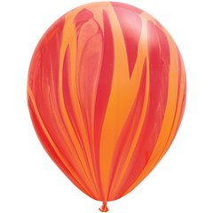 Balon Latex SuperAgate 11 inch (28 cm), Red Orange, Qualatex 91540, set 25 buc