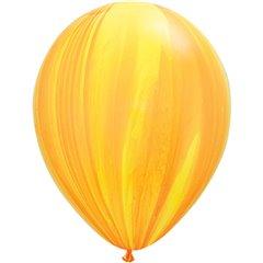 Yellow Orange SuperAgate Latex Balloon, 11 inch (28 cm), Qualatex 91541, Pack of 25 pieces
