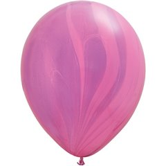 Balon Latex SuperAgate 11 inch (28 cm), Pink Violet, Qualatex 91543, set 25 buc