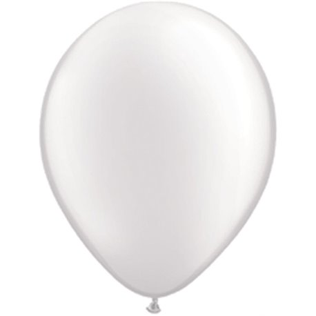 Balon Latex Pearl White 5 inch (13 cm), Qualatex 43597, set 100 buc